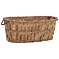 vidaXL Firewood Basket with Carrying Handles 88x57x34 cm Natural Willow