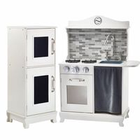 Teamson Kids kids Large Wooden Play Kitchen White Toy Cooker TD-12273A