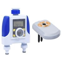 vidaXL Electronic Dual Outlet Water Timer with Moisture Sensor