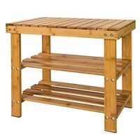 SoBuy 100% Bamboo Shoe Rack Bench,FSR02-K-N