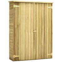 vidaXL Garden Tool Shed 123x50x171 cm Impregnated Pinewood