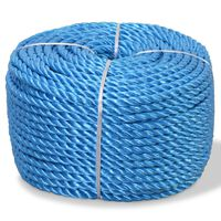 vidaXL Twisted Rope Polypropylene 10 mm 100 m Blue