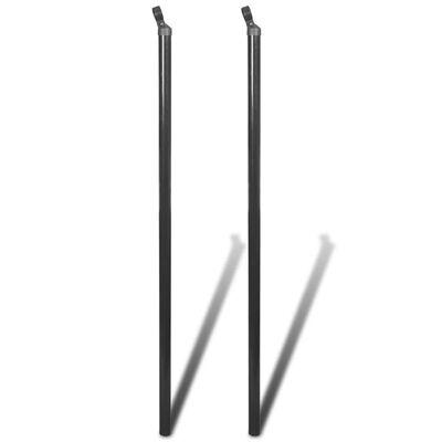 vidaXL Strive Posts for Chain-Link Fence 2 pcs 195 cm