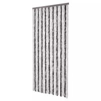 vidaXL Insect Curtain Grey and White 90x220 cm Chenille