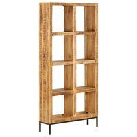 vidaXL Bookshelf 80x25x175 cm Solid Mango Wood