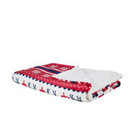 Blanket 200 x 220 cm Red and Blue REKA