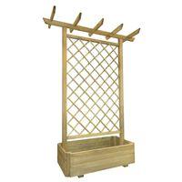 vidaXL Garden Pergola Planter 162x56x204 cm Wood