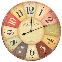 vidaXL Vintage Wall Clock Colourful 60 cm