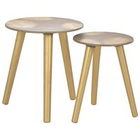 vidaXL Nesting Side Tables 2 pcs Gold 40x45 cm/30x40 cm MDF