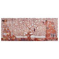vidaXL Canvas Wall Print Set Tree Yellow 150x60 cm