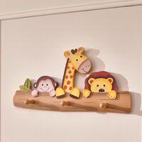 Fantasy Fields Children Sunny Safari Kids Wooden Coat Hanger Hooks TD-