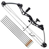 Adult Compound Bow with Accessories and Fiberglass Arrows