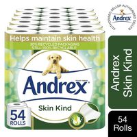 Andrex Toilet Roll Skin Kind With Aloe Vera Extract 2 Ply, 54 Rolls