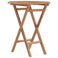 vidaXL Folding Garden Table 60x60x75 cm Solid Teak Wood