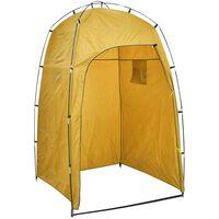 vidaXL Shower WC Changing Tent Yellow