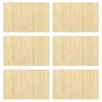vidaXL Placemats 6 pcs Chindi Plain Beige 30x45 cm Cotton
