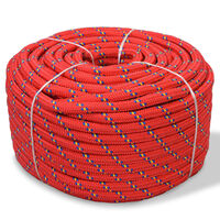 vidaXL Marine Rope Polypropylene 10 mm 250 m Red