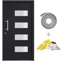 vidaXL Front Door Aluminium and PVC Anthracite 100x200 cm