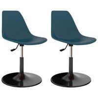 vidaXL Swivel Dining Chairs 2 pcs Turquoise PP