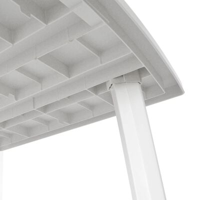 vidaXL Garden Table White 210x96x72 cm Plastic