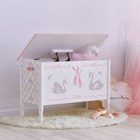 Fantasy Fields Childrens Swan Lake Wooden Toy Box Chest Kids Storage T
