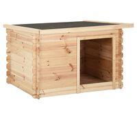 vidaXL Dog House 150x120x80 cm Solid Pine Wood