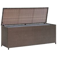 vidaXL Garden Storage Box Brown 120x50x60 cm Poly Rattan