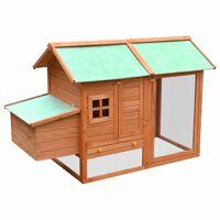 vidaXL Chicken Cage Solid Pine & Fir Wood 170x81x110 cm