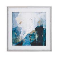 Framed Wall Art 60 x 60 cm Blue MONGA