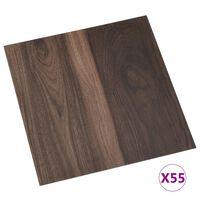 vidaXL Self-adhesive Flooring Planks 55 pcs PVC 5.11 m² Dark Brown