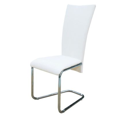 vidaXL Cantilever Dining Chairs 4 pcs White Faux Leather