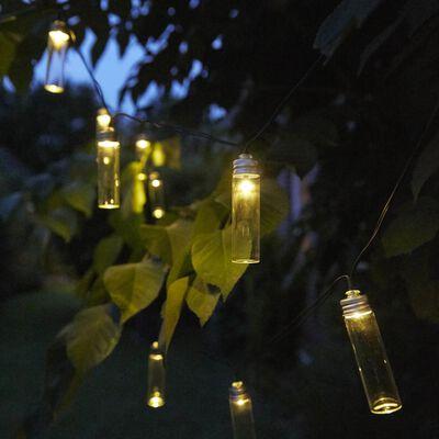 Luxform Solar LED Garden Party Lights 14 pcs Gordo Transparent