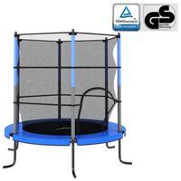 vidaXL Trampoline with Safety Net Round 140x160 cm Blue