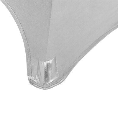 vidaXL 2 pcs Table Covers Stretch 80 cm Silver