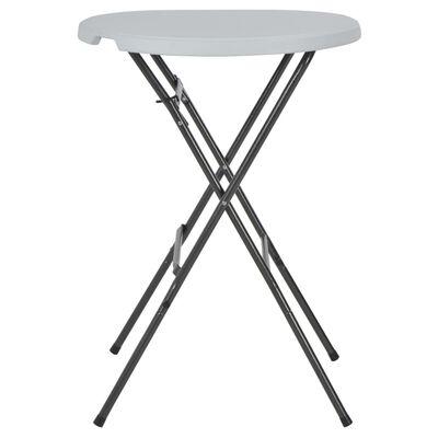 vidaXL Folding Bar Table White 80x110 cm HDPE