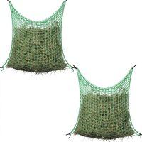 vidaXL Hay Nets 2 pcs Square 0.9x1 m PP