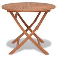 vidaXL Folding Garden Table 85x76 cm Solid Teak Wood