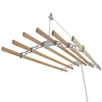 Clothes Airer Ceiling Pulley Maid Traditional Dryer 6 Lath 1.4m White