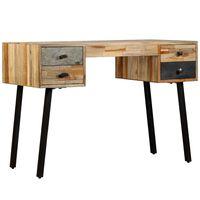 vidaXL Writing Desk Solid Reclaimed Teak 110x50x76 cm