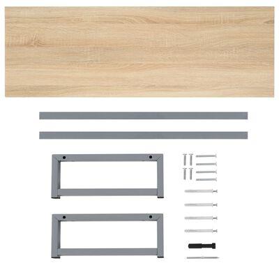 vidaXL Bathroom Wall Shelf for Basin Oak 120x40x16.3 cm