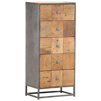 vidaXL Drawer Cabinet 45x30x100 cm Solid  Reclaimed Wood
