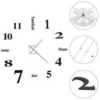 vidaXL 3D Wall Clock Modern Design 100 cm XXL Black