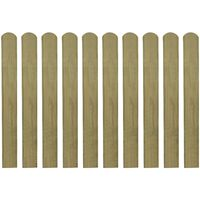 vidaXL 30 pcs Impregnated Fence Slats Wood 80 cm