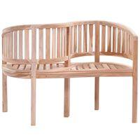 vidaXL Garden Bench 120 cm Solid Teak