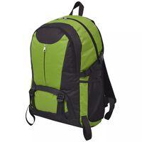 vidaXL Hiking Backpack 40 L Black and Green