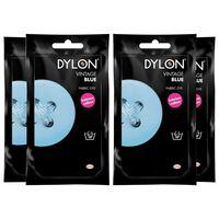 Dylon Hand Fabric Dye Sachet, Vintage Blue, 4 Packs Of 50g