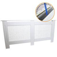 Radiator Cover White MDF Trellised Grill Modern Cabinet Shelf 1720mm