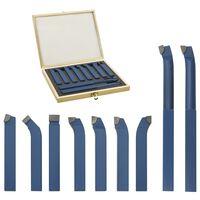 vidaXL 11 Pieces Carbide Turning Tool Set 12x12 mm P30