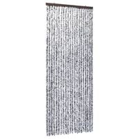 vidaXL Insect Curtain Brown and Beige 90x220 cm Chenille