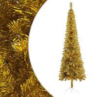 vidaXL Slim Christmas Tree Gold 120 cm